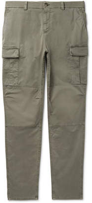 Brunello Cucinelli Stretch-Cotton Cargo Trousers - Green