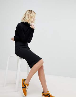 New Look Texture Pencil Skirt