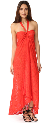 Fuzzi Halter Long Dress $295 thestylecure.com