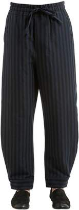Damir Doma 25cm Striped Cotton Blend Pants