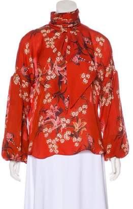 Johanna Ortiz Long Sleeve Floral Blouse