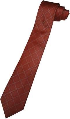 Michael Kors Neck Tie Orange and Silver Diamond Pattern
