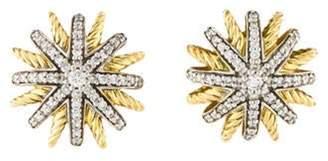 David Yurman 18K Diamond Starburst Earrings gold 18K Diamond Starburst Earrings