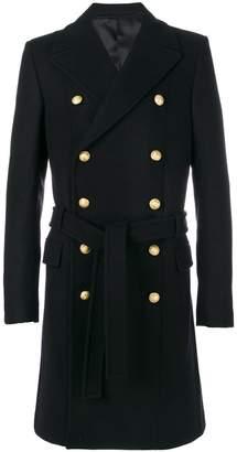 Balmain button-embellished coat