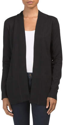 Ribbed Cardigan With Pockets