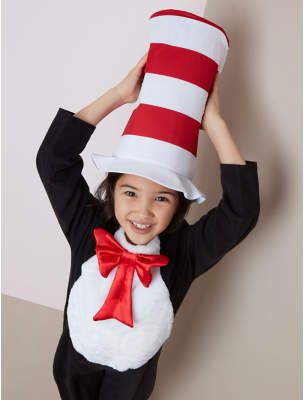 CAT George Dr. Seuss The In The Hat Fancy Dress Costume