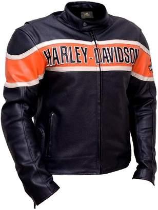 Harley-Davidson Perfect Colors Men's Victory Lane Leather Jacket (L)