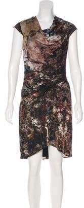 Helmut Lang Printed Silk Dress