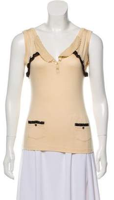 John Galliano Sleeveless Jersey Top