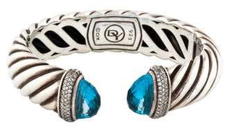 David Yurman Topaz & Diamond Waverly Bracelet