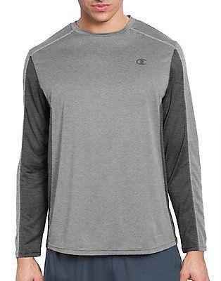 Champion Vapor PowerTrain Long Sleeve Colorblock Men's Tee Men's Shirts