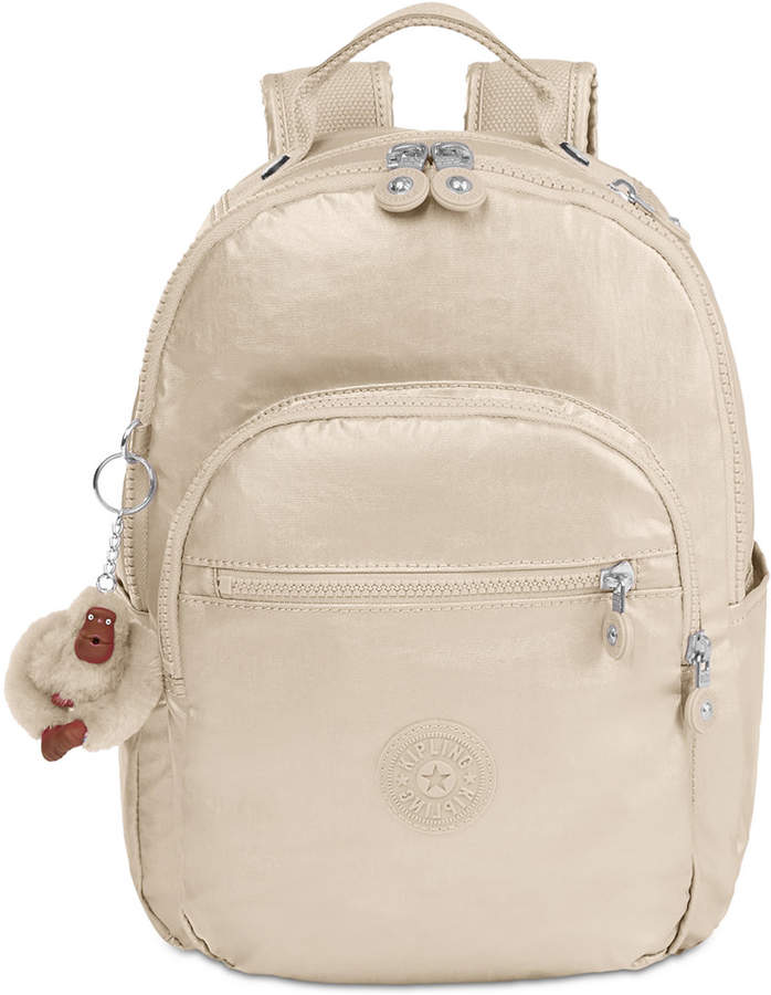 Kipling Seoul Go Small Backpack - SPARKLY GOLD - STYLE