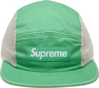 Supreme Mesh Side Panel Camp Cap - 'SS 18' - Light Green