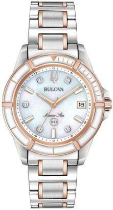 Bulova Women's Marine Star Two-Tone Diamond Watch