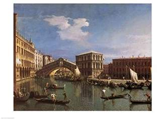 Rialto Wall Art Import The Bridge, Venice Poster Print by Giovanni Antonio Canaletto (36 x 24)