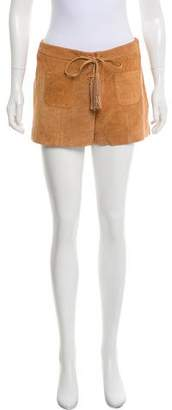 Intermix Suede Mini Shorts