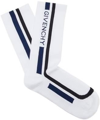 Givenchy Logo-intarsia cotton sports socks