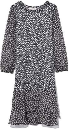 Schumacher Dorothee Punky Patch Dress in Black White Rebel