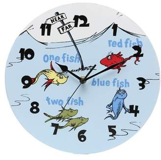 "Trend Lab Dr. Seuss One Fish Two Fish 11"" Wall Clock"