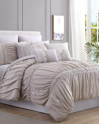 Rialto Colonial Home 8Pc Lace & Embellished Comforter Set