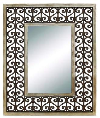 Benzara Long Lasting Wood Frame Wall Mirror - 40W x 50H in.