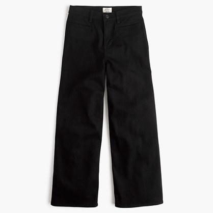 J.CrewRayner wide-leg jean in black