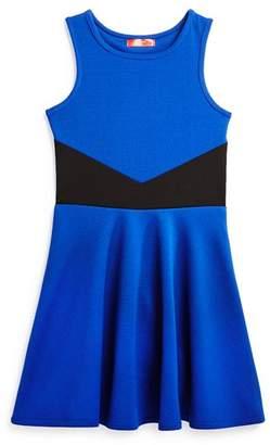 Aqua Girls' Textured Contrast Dress, Big Kid - 100% Exclusive