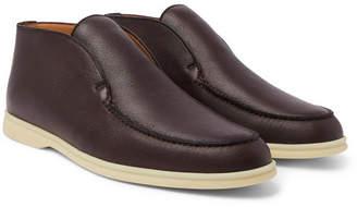Loro Piana Open Walk Full-grain Leather Boots
