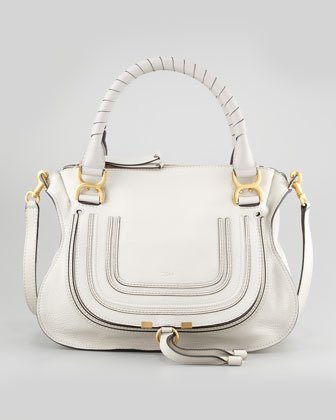 Chloé Marcie Medium Satchel Bag, Off White