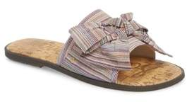 Sam Edelman Gigi Bow Faux Leather Sandal