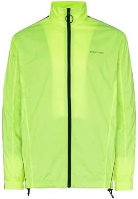 Off-White logo stripe nylon zip jacket