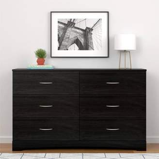 Ameriwood Home Crescent Point 6 Drawer Dresser, Multiple Colors