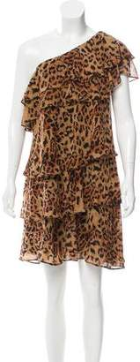 Rachel Zoe Silk Leopard Print Mini Dress