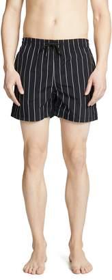 Solid & Striped The Classic Pinstripe Swim Trunks