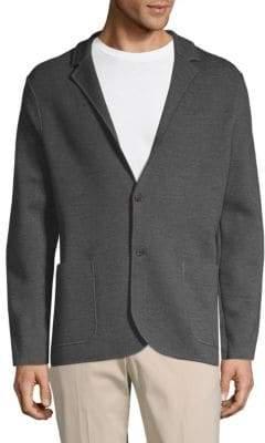 Loro Piana 2-Button Wool Knit Jacket