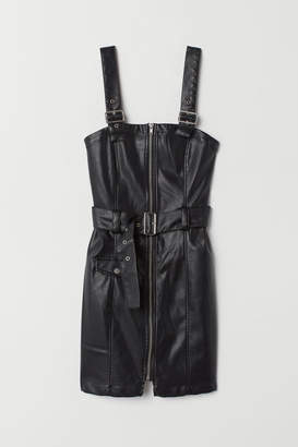 H&M Bib Overall Dress - Black
