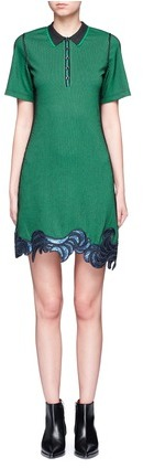 3.1 Phillip Lim 3.1 Phillip Lim Floral sequin embroidered ottoman knit polo dress
