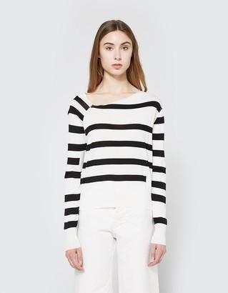 Rubble Knit in White Stripe $90 thestylecure.com