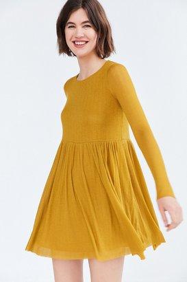 Kimchi Blue Vidal Cozy Long-Sleeve Babydoll Mini Dress $59 thestylecure.com