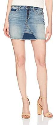 True Religion Women's Mid Rise Cut Off Skirt