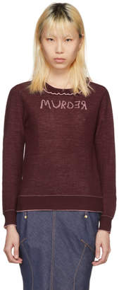 Undercover Reversible Burgundy and Pink Murder Sweater