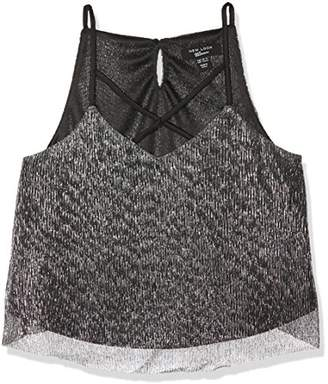 New Look Girl's Xm Pleated Plisse Crossfront C Tank Top,(Manufacturer Size: 141)