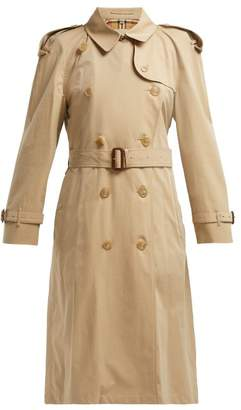 Burberry Westminster Gabardine Trench Coat - Womens - Beige