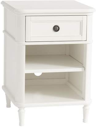 Pottery Barn Teen Colette Bedside Table, Water-Based Simply White, UPS