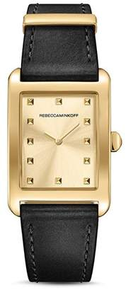 Rebecca Minkoff Moment Leather Watch, 26.5mm