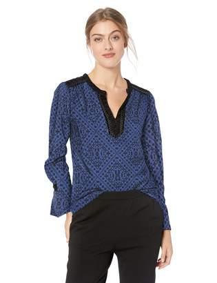 Lucky Brand Women's Allover Printed TOP, XL