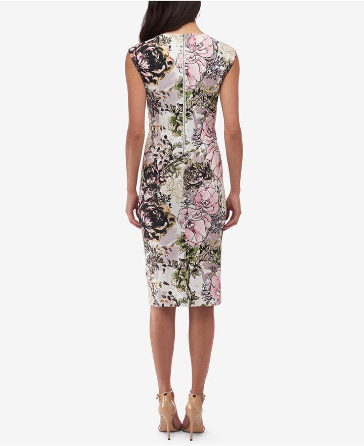 ECI Long Textured Sheath Dress 2