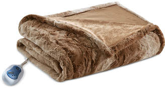 "Simmons Beauty rest Zuri Reversible Oversized 50"" x 70"" Heated Faux-Fur Throw Blanket Bedding"