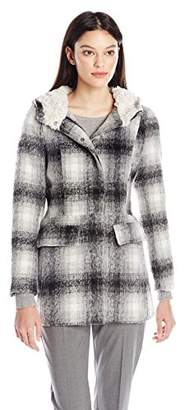 Madden Girl Women's Coat with Sherpa Lining $34.93 thestylecure.com