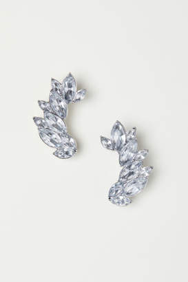 H&M Rhinestone Earrings - Silver